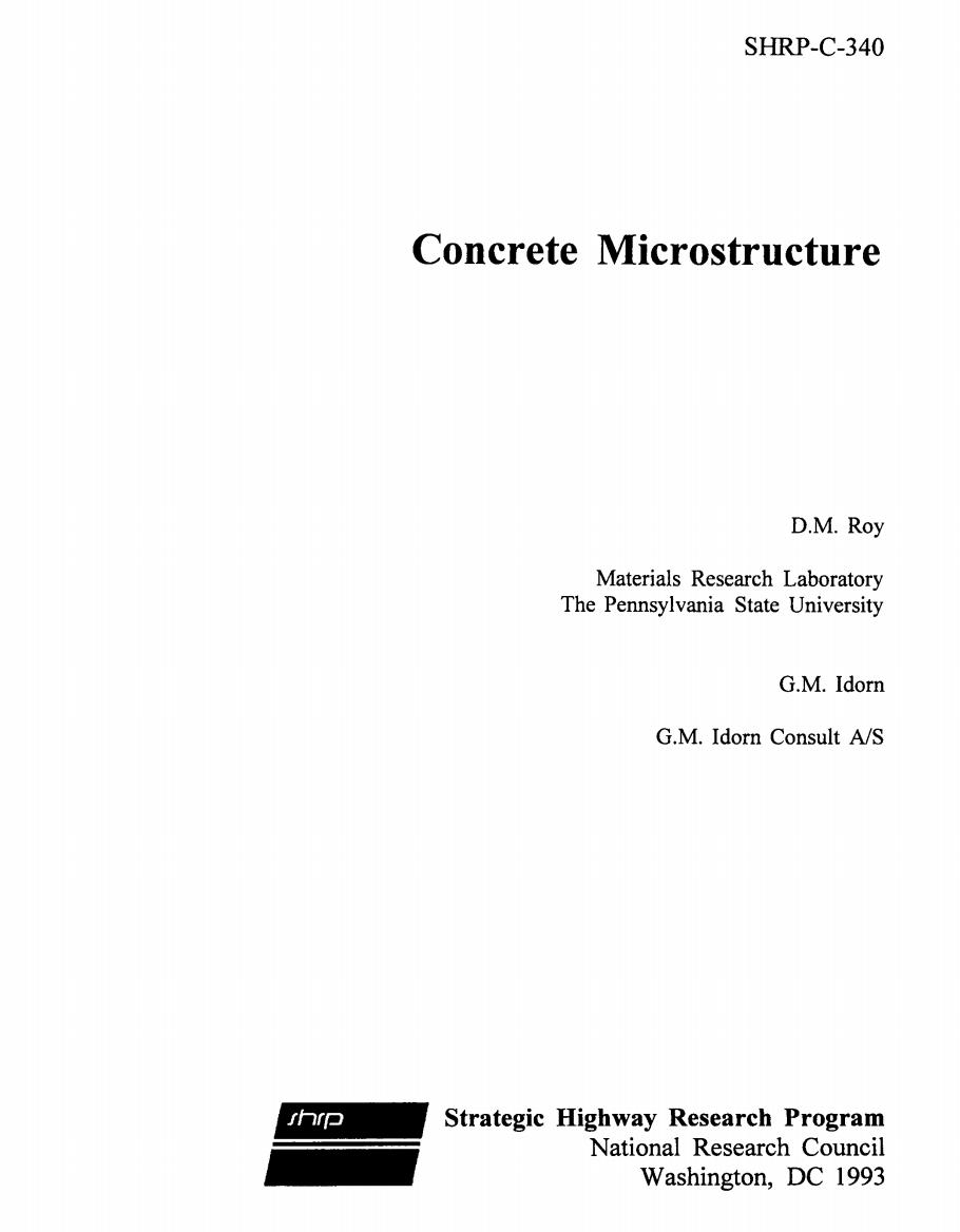 Concrete Microstructure [PUB]
